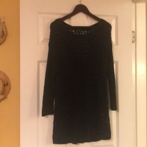 Ann Taylor navy knit sweater-large